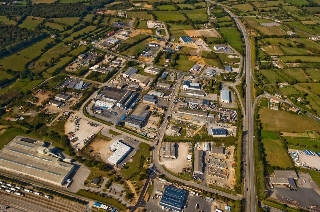 Vue aérienne de l'espace d'activités d'Armanville