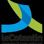 """Logo """"Le Cotentin Communauté d'Agglomération"""" de couleurs verte et bleue"""