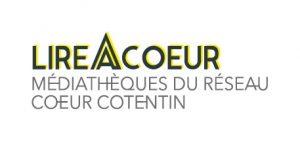 """Logo du réseau """"Lire@cœur"""", médiathèques du réseau Cœur Cotentin"""