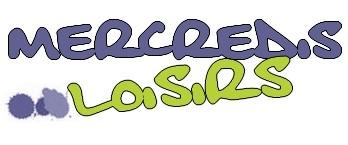 """Logo """"mercredis loisirs"""" de couleurs mauve et verte"""