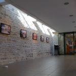 Vue de la galerie d'exposition - côté intérieur