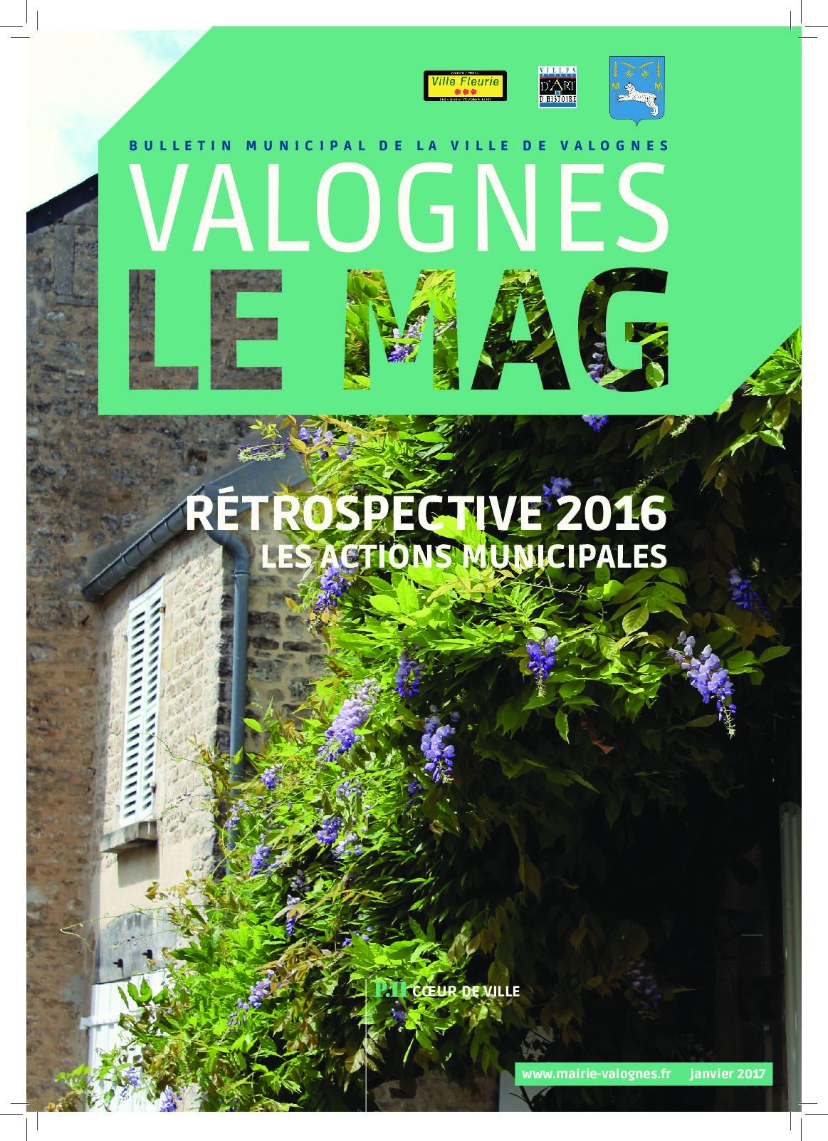 Bulletin municipal 2016 - Rétrospective 2016  Les actions municipales