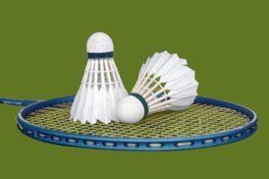 Raquette et volants de badminton