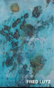 Oeuvre abstraite bleue