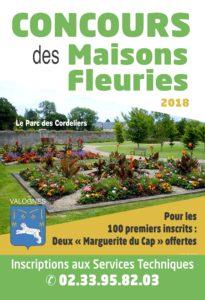 Affiche du concours des Maisons Fleuries 2018
