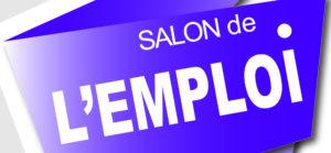 """Visuel """"Salon de l'emploi"""" sur fond bleu-violet"""