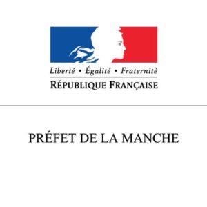 """Logo République Française """"Préfet de la Manche"""""""