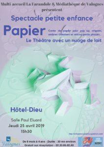Affiche Spectacle petite enfance Papier