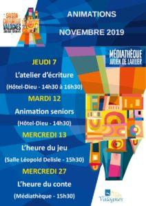 Programme novembre 2019